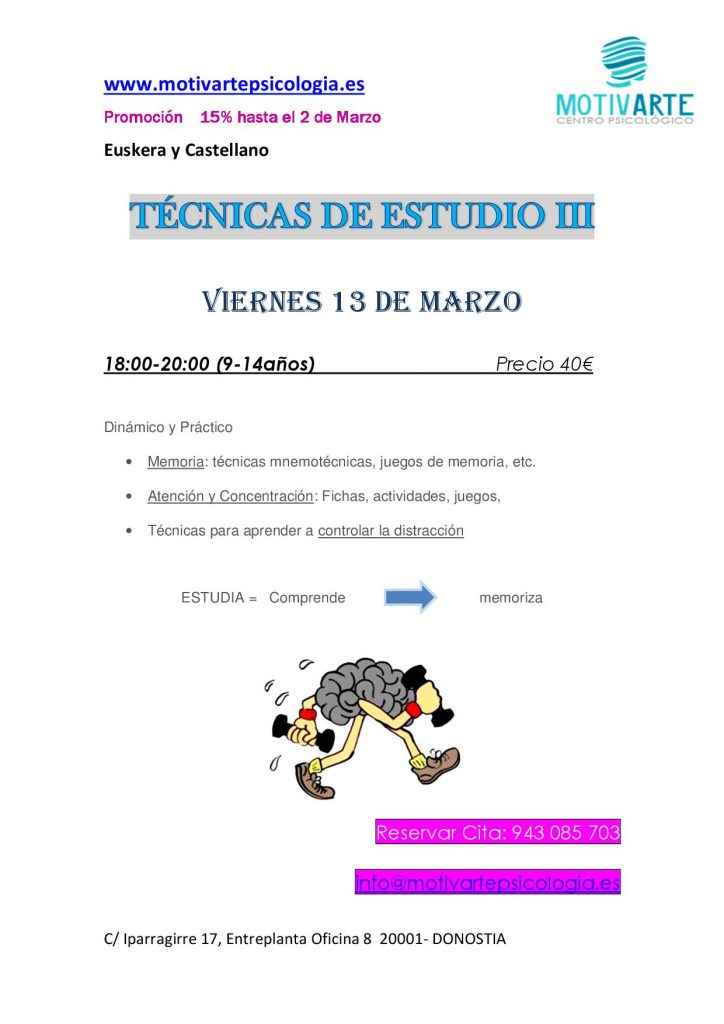 TALLER TECNICAS DE ESTUDIO III
